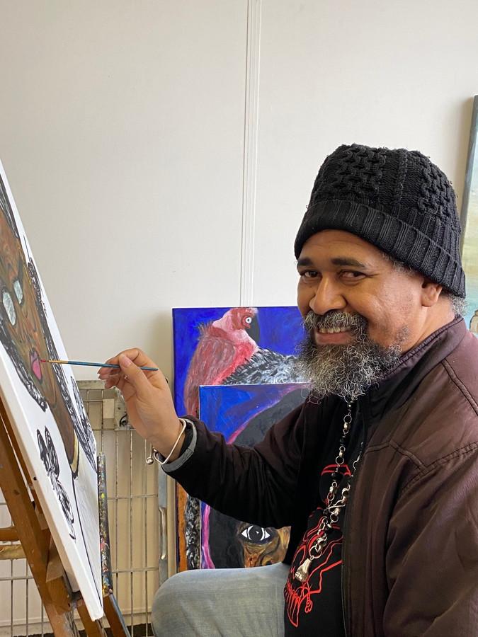 Rotterdamse straatkunstenaar Gilly Nelom