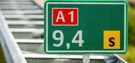 Autobrand op A1 bij Holten, 7 kilometer file