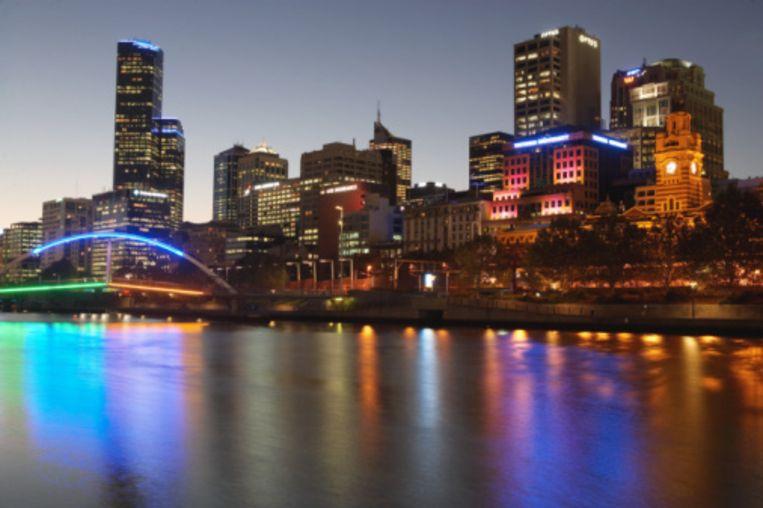 Melbourne is ook 's avonds feeëriek. Beeld UNKNOWN
