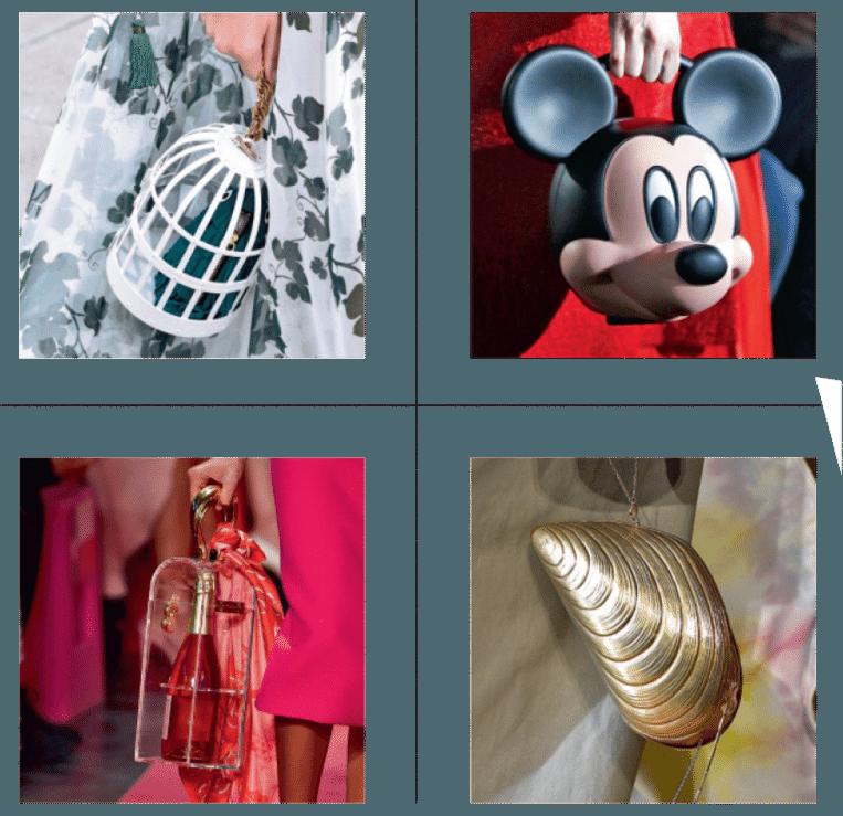 Handige tasjes met bijzondere designs.  Beeld