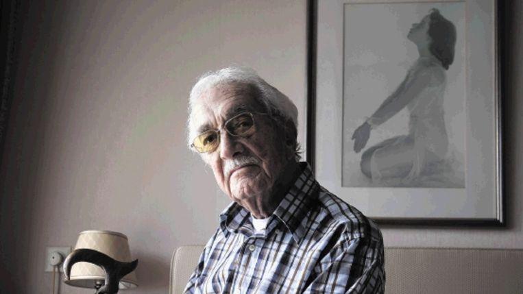 Don Bamberg heeft in meer dan zeven concentratiekampen gezeten. Hij is er laconiek van geworden. En gevoelsarmer. Maar niet wraakzuchtig. ¿Ik kijk naar de mens.¿ ( FOTO MARCO HOFSTÿ) Beeld Marco Hofste