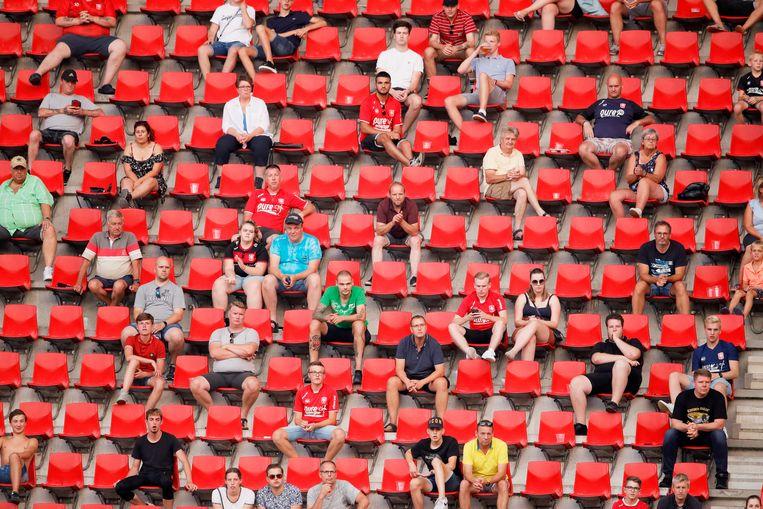 Fans van FC Twente. Beeld BSR Agency