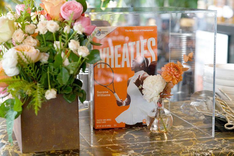 Serena Williams op een Wheaties-doos. Beeld Getty