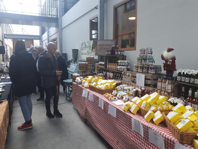 Het kraampje van organisator Joost Kooijmans.