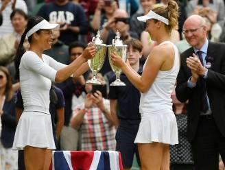 Een Belgische grandslamtitel: Elise Mertens en Taiwanese partner winnen dubbelspel Wimbledon na zenuwslopende wedstrijd tegen Russisch duo