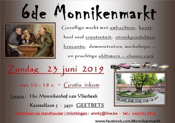 De monnikenmarkt is al aan haar zesde editie toe.