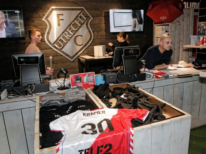 De fanshop van FC Utrecht.