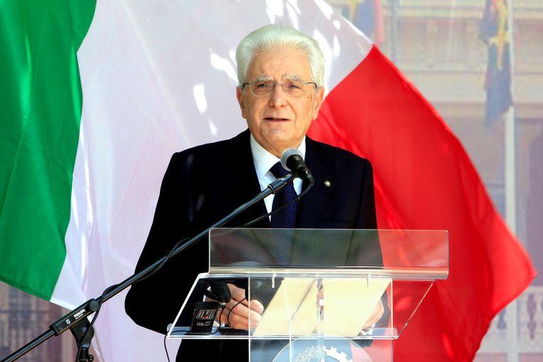 De Italiaanse president Sergio Mattarella. Beeld EPA