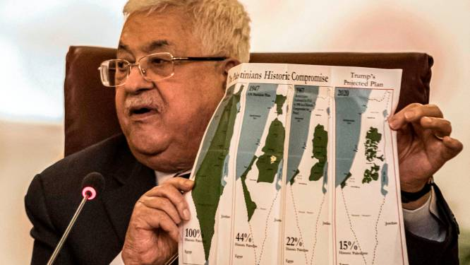 Abbas knipt alle banden met Israël en VS door als reactie op Midden-Oostenplan van Trump