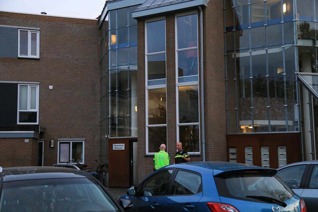 Onderzoek aan de Spoorstraat in Helmond.