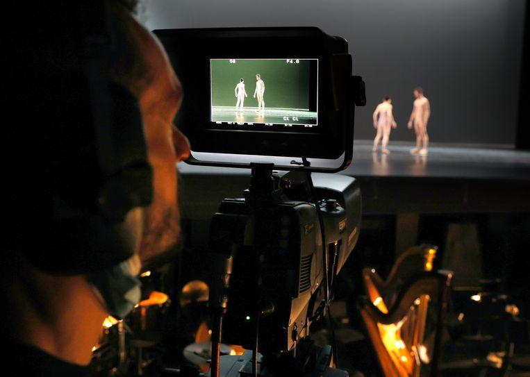 De opnamen van het Kerstgala van Het Nationale Ballet. Beeld Hans Gerritsen