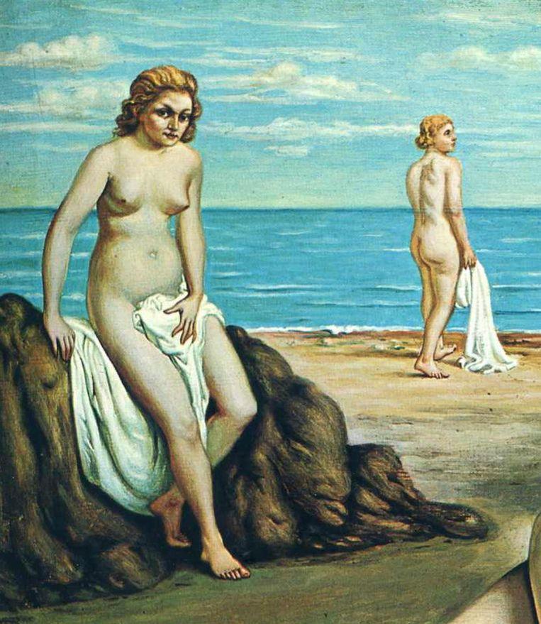 Giorgio De Chirico, detail uit Baders op het strand, 1934 Beeld collectie Valsecchi Rome