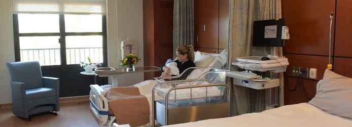 Een kamer in het geboortecentrum van het Santa Barbara Cottage Hospital.