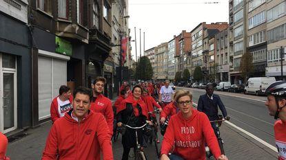 N-VA en Sp.a fietsen door Borgerhout