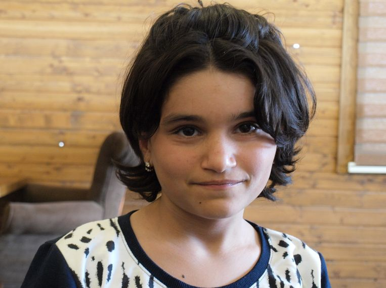 Mediha Ibrahim: 'Ik bid niet meer, want ik ben zo gelukkig dat ik weer terug ben.' Beeld Judit Neurink