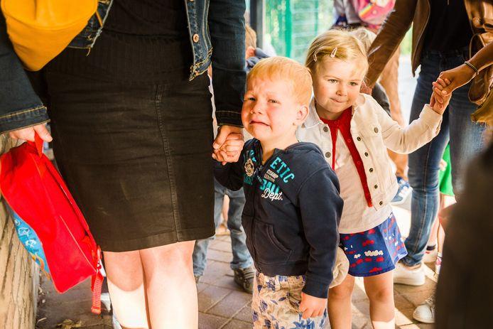 Archiefbeeld: de eerste schooldag op basisschool Westerhem in Sint-Denijs-Westrem.