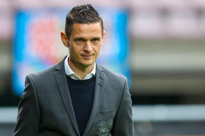 Rogier Meijer, trainer van NEC. 'Er is geen enkele kans dat ik volgend seizoen trainer van De Graafschap ben. Dat is uitgesloten.'