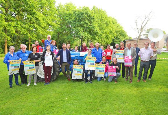 De organisatoren van de jaarlijkse Sinksenkermis in Hekelgem.