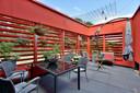 De patio, ook rood