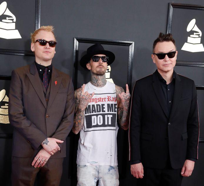 Matt Skiba, Travis Barker en Mark Hoppus van Blink-182