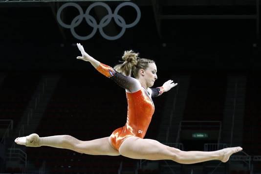 Céline van Gerner in actie in Rio in 2016.