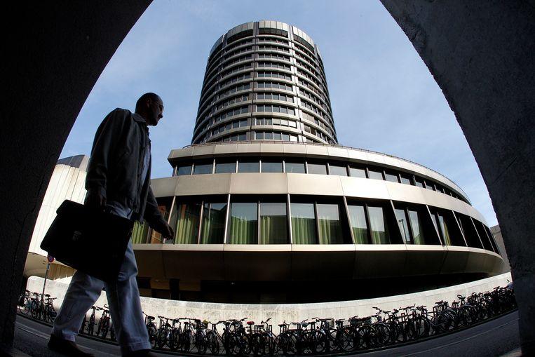 De toren van de Baselse Bank of International Settlements (BIS). Beeld REUTERS