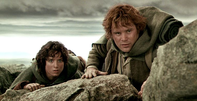 Elijah Wood en Sean Astin in The Lord of the Rings: The Two Towers van Peter Jackson. Beeld