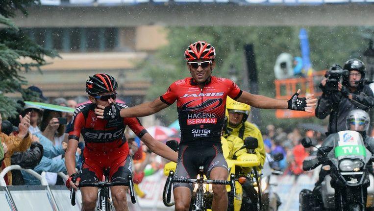 Acevedo kreeg de overwinning van Van Garderen cadeau. Beeld AFP