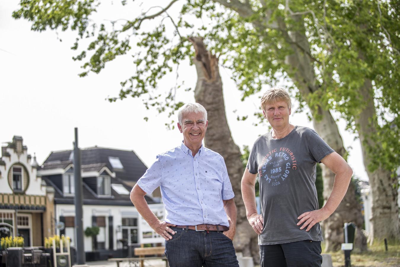 Geert Jan Bittink en Willem Teger van Diepenheim wil Door op het Plein onder de Platanen.