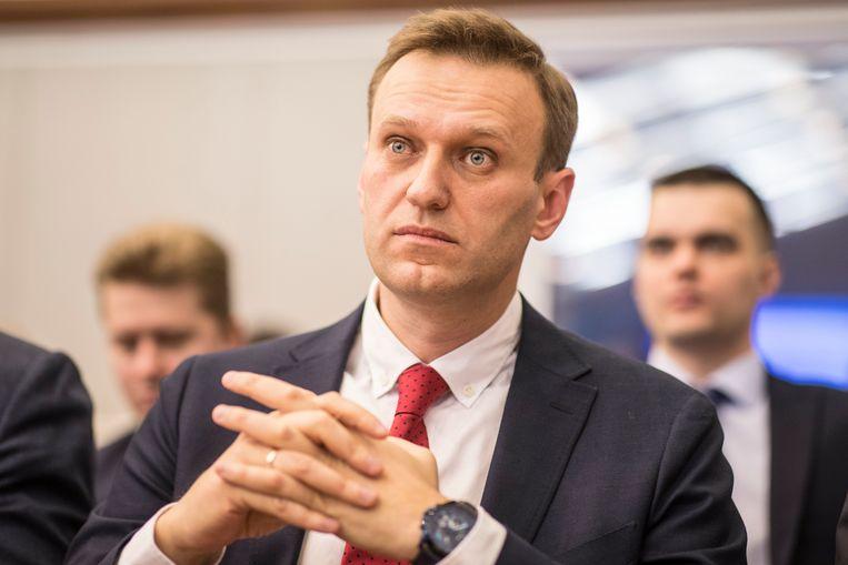 De Russische oppositieleider Aleksej Navalny. Beeld EPA