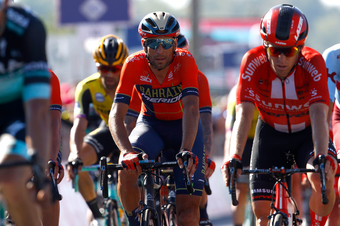 Vincenzo Nibali is de kopman van Bahrain-Merida.