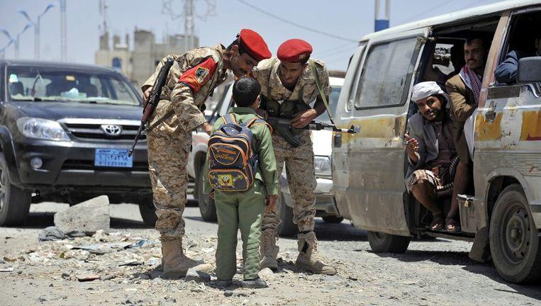 De veiligheid in Jemen werd verhoogd na de aanval van gisteren. Beeld EPA