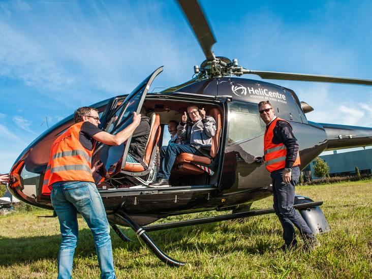 Van herseninfarct herstelde Koos uit Gouda maakt bijzondere helikoptervlucht voor goed doel