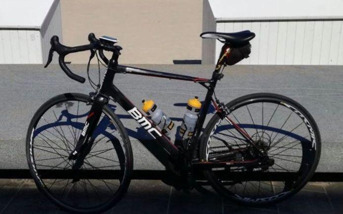 Eén van de gestolen fietsen was perfect afgesteld op het lichaam van zijn gepassioneerde eigenaar.