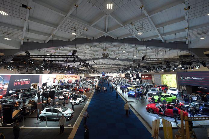 Le Salon de l'Auto de Bruxelles, en janvier 2020.