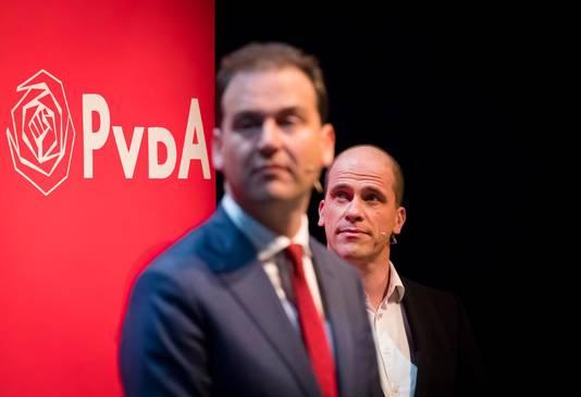 Samsom en Asscher tijdens het debat