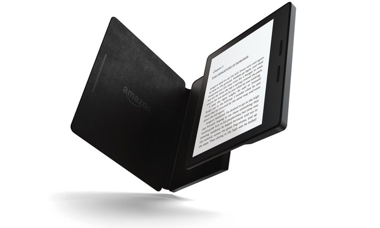 Amazons Kindle Oasis. Beeld rv