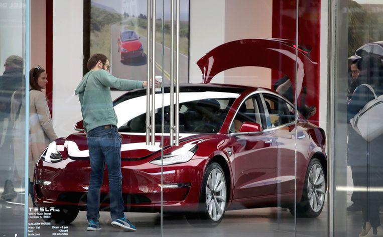 De Tesla Model 3.  Beeld AFP
