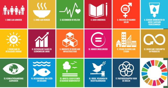 Er zijn zeventien Duurzame Ontwikkelingsdoelstellingen.