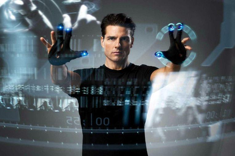 Tom Cruise in Minority Report. Beeld