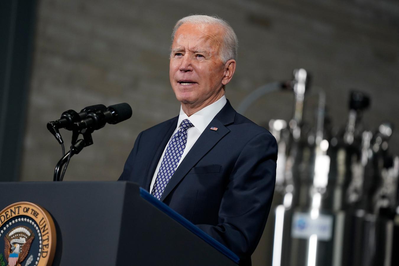 Joe Biden, president van de Verenigde Staten.