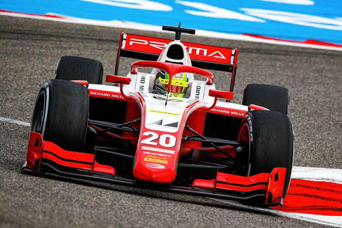 Mick Schumacher in de Formule 2.