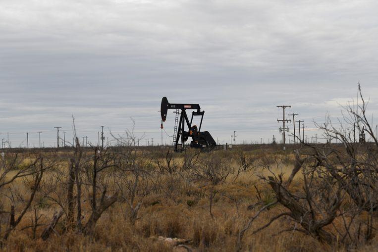 Een jaknikker pompt olie uit de grond in Permian Basin. Shell verkoopt zijn ruim 900 vierkante meter aan olievelden daar. Beeld Reuters