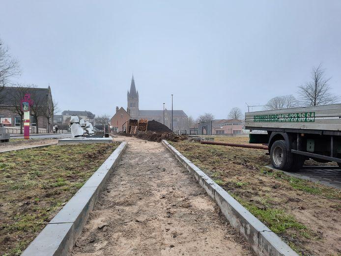 In de Kapellestraat in Jabbeke zijn woensdag werken gestart.