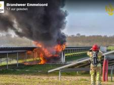 Veel onduidelijk bij brand op zonnepark