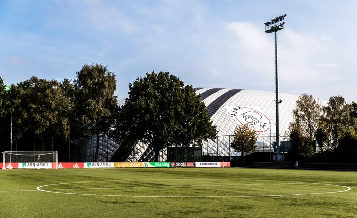 Een kunstgrasveld op sportpark de Toekomst, het trainingscomplex van Ajax.