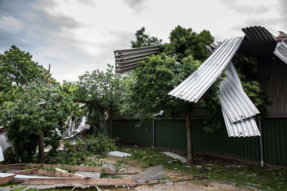 Stormschade in de Breugelhoeve.