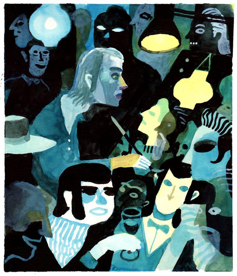 'Zelfportret' in 'Het amusement'. Beeld RV Brecht Evens