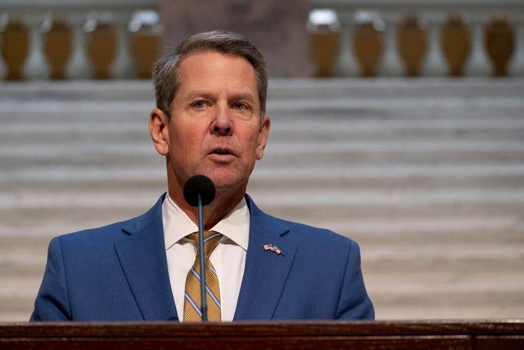 De gouverneur van Georgia, Brian Kemp. Beeld AP