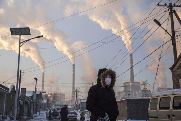 China is het land dat het meeste CO2 uitstoot. Beeld
